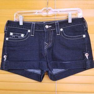 True Religion | Jean Shorts w/ Contrast Stitching